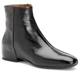 Aquatalia Ulyssa Patent Leather Wedge Booties