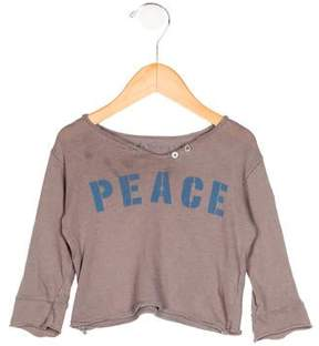 Zadig & Voltaire Girls' Peace Print Long Sleeve Top