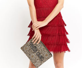 Oasis Tres Chic Embellished Clutch