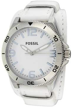 Fossil BQ1168 Men's Classic White Leather Watch