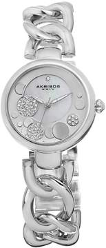 Akribos XXIV Silver-Tone Ladies Watch