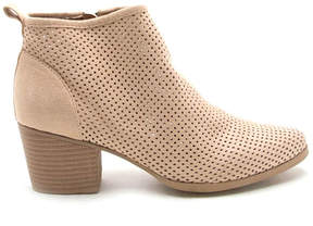 Qupid Toast Nero Mesh Bootie - Women
