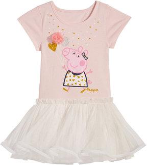 Peppa Pig Balloon Ruffle Dress, Toddler Girls (2T-5T)