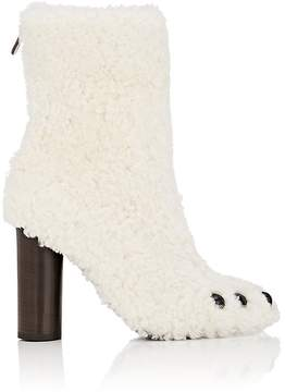 Anya Hindmarch WOMEN'S CLAW-EMBELLISHED SHEARLING ANKLE BOOTS