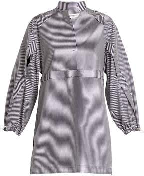 Amanda Wakeley Kansai striped cotton-poplin shirtdress