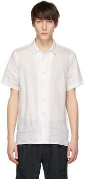 Paul Smith White Short Sleeve Linen Shirt