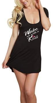 Dreamgirl Black 'Wake Me With a Kiss' Cutout Sleep Shirt - Women & Plus