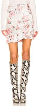 Alexachung ALEXACHUNG Ruffle Mini Skirt in Pink Silver | FWRD