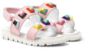 Fendi Pink Multi Stud Sandals