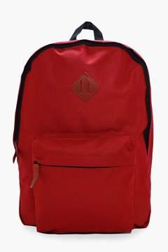 boohoo Plain Canvas Backpack