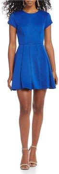 B. Darlin Cap Sleeve Fit-And-Flare Dress
