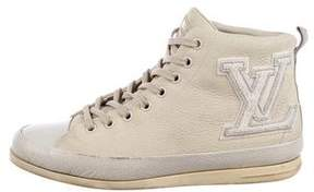 Louis Vuitton Initiales High-Top Sneakers