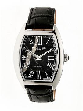 Heritor Baron Mens Black Strap Watch-Herhr6002