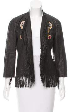 Trussardi Leather Embellished Jacket w/ Tags