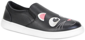Bamboo Black & White Cat Slip-On Sneaker