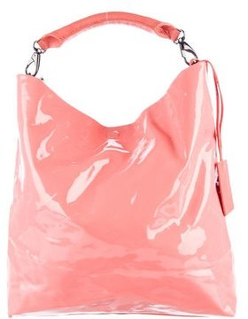 C'N'C Costume National Faux Patent Leather Convertible Tote