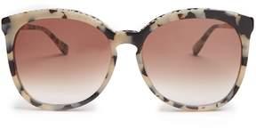 Stella McCartney Chain-embellished round-frame acetate sunglasses
