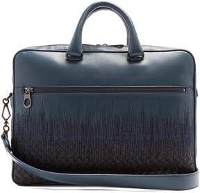 Bottega Veneta Skyline-embroidered intrecciato leather briefcase