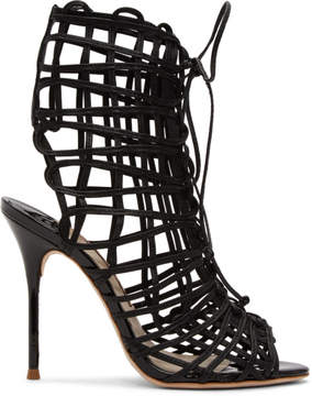 Sophia Webster Black Delphine Sandals