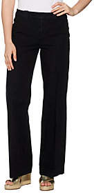 Isaac Mizrahi Live! Tall 24/7 Denim Fly FrontWide Leg Jeans