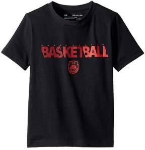 Under Armour Kids Basketball Wordmark Short Sleeve Tee Boy's T Shirt