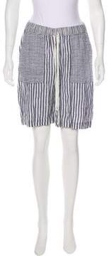 Calypso Mid-Rise Striped Shorts