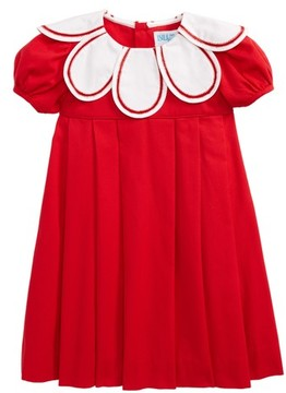 Luli & Me Infant Girl's Daisy Collar Corduroy Dress
