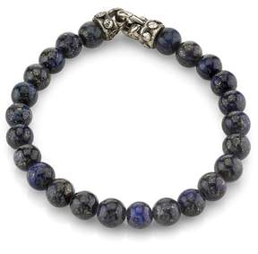 Scott Kay 925 Sterling Silver with Lapis Beaded Bracelet