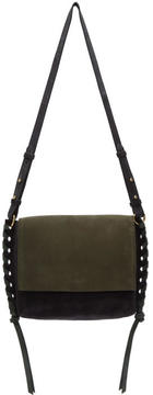 Isabel Marant Black and Green Suede Asli Bag