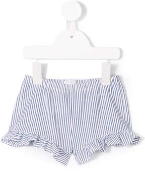 Il Gufo striped ruffle shorts