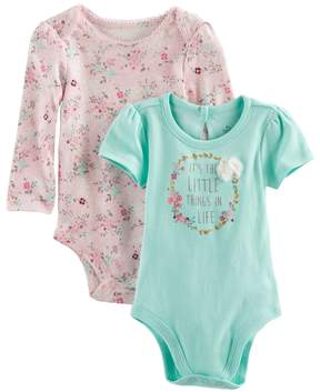 Baby Starters Baby Girl 2-pk. Little Things Bodysuits
