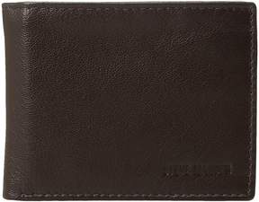 Steve Madden Smooth Leather RFID Blocking Passcase Wallet Wallet Handbags