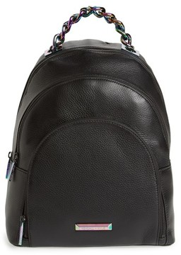 KENDALL + KYLIE Sloane Iridescent Hardware Leather Backpack - Black