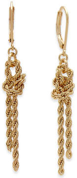 Charter Club Gold-Tone Knotted Rope Chain Drop Earrings, Created for Macy's
