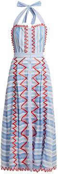 Temperley London Trelliage zigzag-edged striped dress