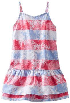 Osh Kosh Toddler Girl Poplin Stripe Floral Dress