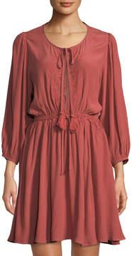 Astr Constance Drawstring-Waist Dress