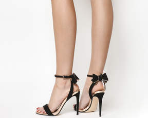 Bow Back Heels Black Rose Gold