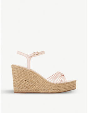 Dune Kikii knot-detail leather wedge sandals