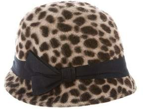 Eugenia Kim Cheetah Print Hat