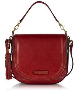 The Bridge Women's Red Leather Shoulder Bag.
