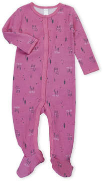 Petit Lem Newborn/Infant Girls) Printed Thermal Footie