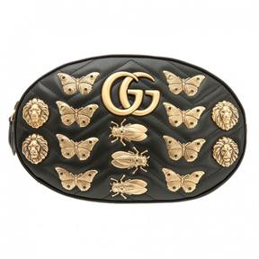 Gucci Marmont leather clutch bag - BLACK - STYLE