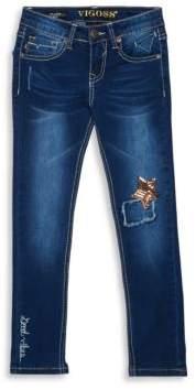 Vigoss Girl's Star at My Knee Jeans