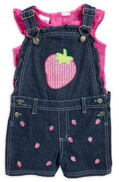 Nannette Little Girl's Two-Piece Top and Shortall Set