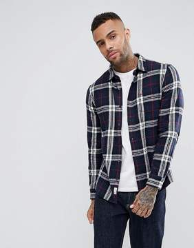 Jack Wills Stanwick Flannel Check Shirt In Navy