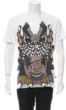 Just Cavalli Textured Graphic Print T-Shirt w/ Tags