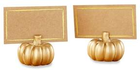 Kate Aspen 12ct Kate Aspen Gold Pumpkin Place Card Holder