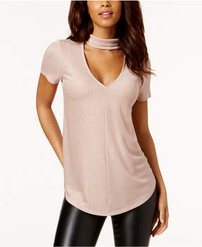 Bar III Metallic Choker-Neck Top, Created for Macy's