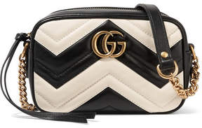 Gucci Gg Marmont Camera Mini Two-tone Quilted Leather Shoulder Bag - White - WHITE - STYLE